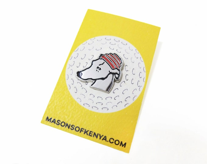 Whippet Good! Enamel Pin