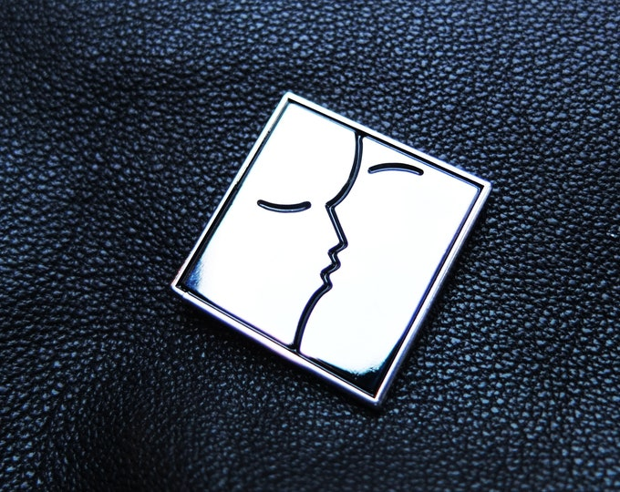 The Kiss Enamel Pin