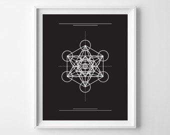 Third Eye Geometric 8x10 Instant Download