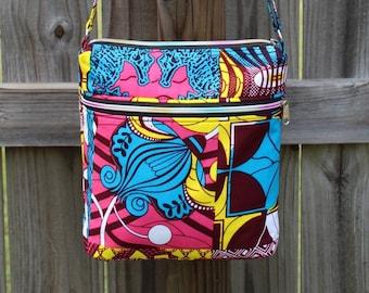 Messenger Bag Ankara bag African Crossbody Bag Fabric Crossbody bag Gifts for men Gifts for women