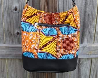 Women's handbag, Women Shoulder bag, Women Tote Bag, Tote with Zipper closure, African Print Handbag, Gifts for women, Gift for Women