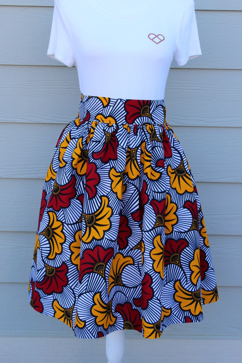 African Print Skirt Women African Clothing Knee length image 0
