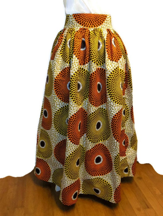 4d89b07ff6 African Print Skirt African Print Maxi Skirt with Pockets | Etsy