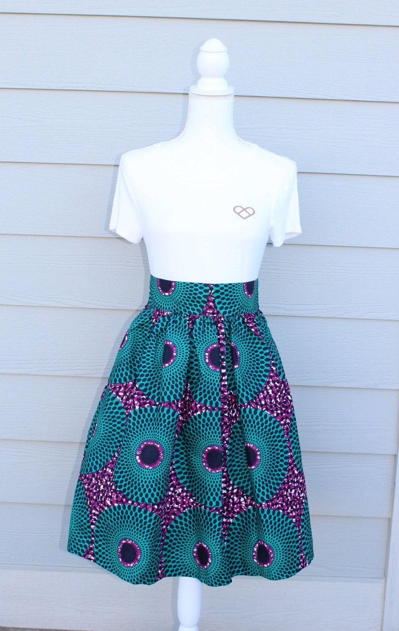 Ankara Maxi Skirt African Print Maxi Skirt Knee Length image 0