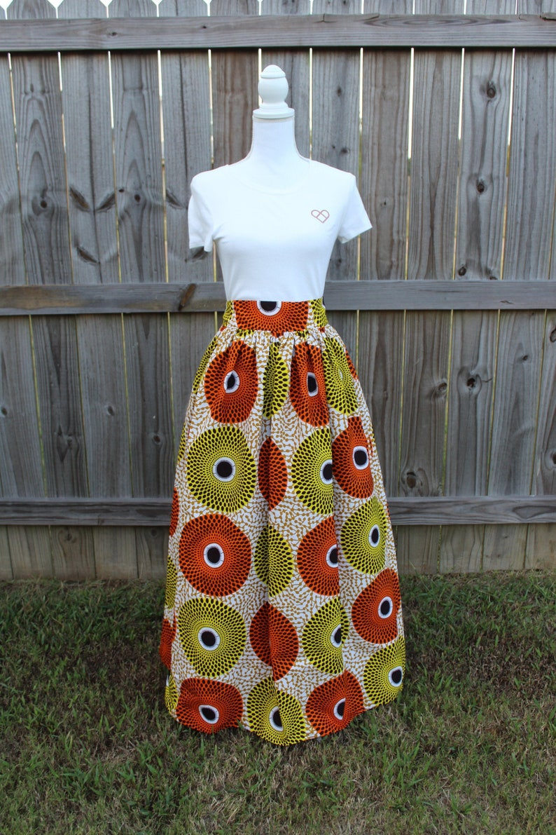 African Print Skirt Skirt with Pockets African Skirt Ankara image 0