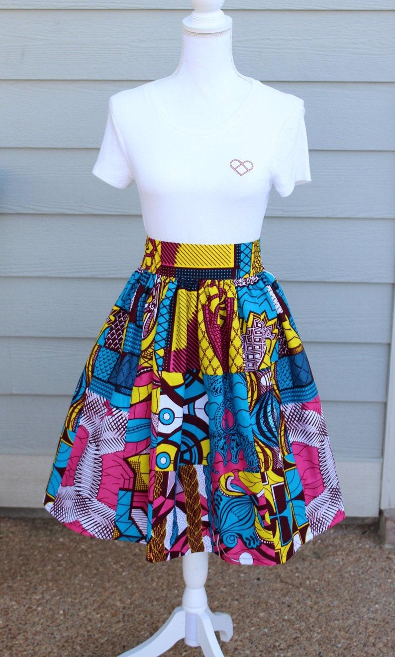 African Print Maxi Skirt with Pocket African Print Skirt image 0