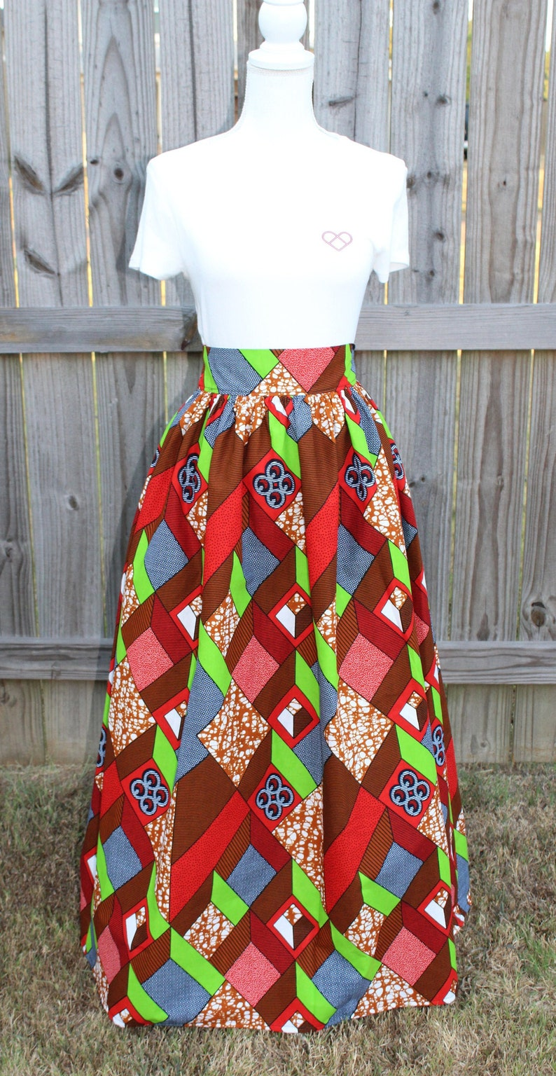 African Print Skirt African Print Clothing Ankara Skirt image 0