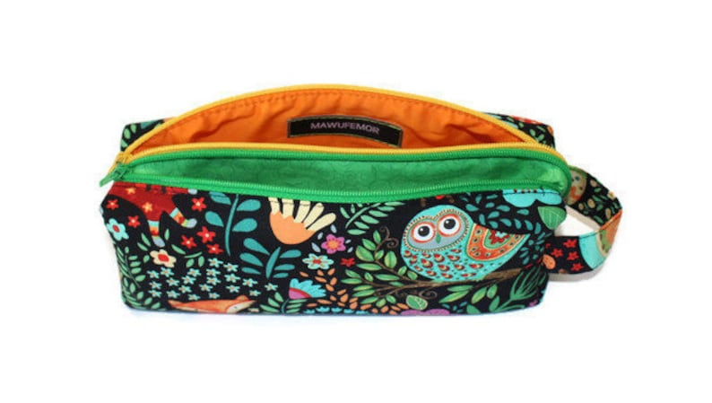 Double Zipper Pouch Pencil Case Holiday Gift image 0