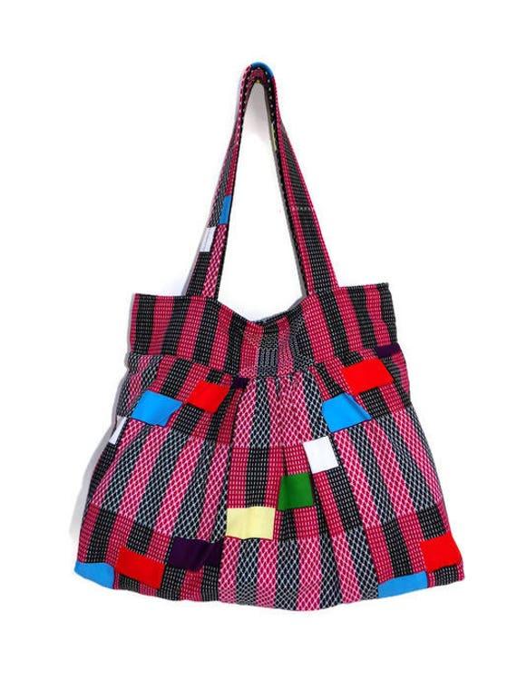 54ff645ce7fe Tote Bag with Pocket African Print Shoulder Bag Women s