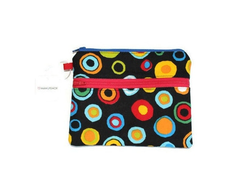 Double Zipper Pouch Cell Phone Pouch Small Pouch Gifts for image 0