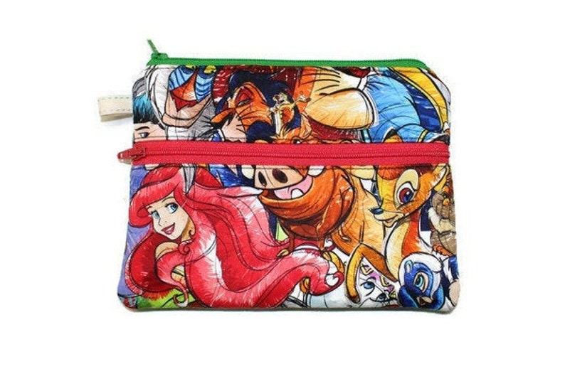 Zipper Pouch Double Zipper Pouch Cell Phone Pouch Small image 0