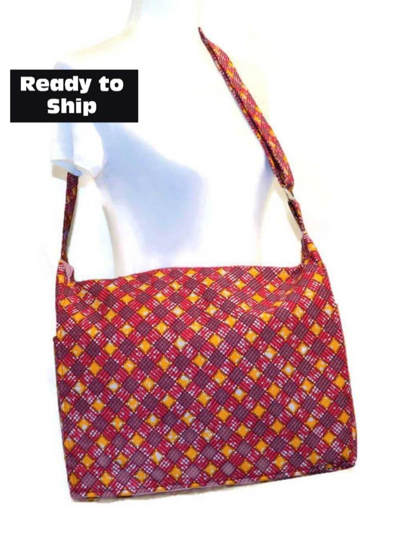 a27c25121 African Print Bag Large Messenger Bag Messenger Bag Pink | Etsy