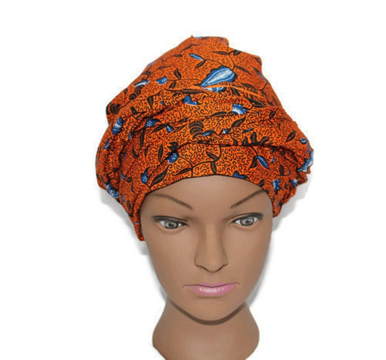 African Print Fabric Head Wrap African Clothing Jupe Wax image 0