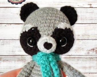 Raccoon toy/ Crochet Raccoon/ Stuffed Raccoon/ Amigurumi raccon/ Raccoon Plush/ Woodland Animals/ Forest Animals/Crochet Toys