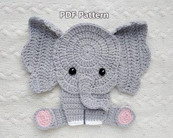 Free Crochet Pattern: Elephant Appliqué | Crochet elephant pattern ... | 270x340