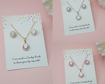 Bridesmaid Gift Bridesmaid Jewelry Set 4 5 6 7 8 Bridesmaid Earrings Mother of Groom Personalized Bridesmaid Gift Bridesmaid Jewelry
