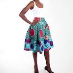 Ankara Midi skirt - African print skirt - high waist skirt - printed midi skirt