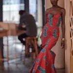 African  Maxi dress, African women tail Dress, Printed Maxi Dress, Maxi dress, Ankara evening Dress, Mermaid dress Maxi, ankara tail dress