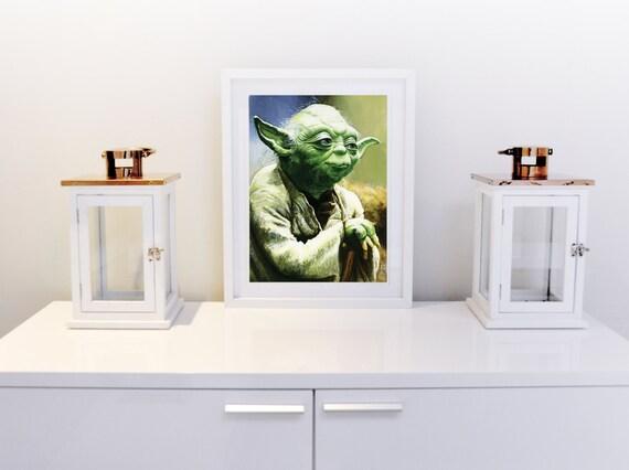 Retrato de Yoda Yoda arte Star Wars arte Star Wars Jedi la | Etsy