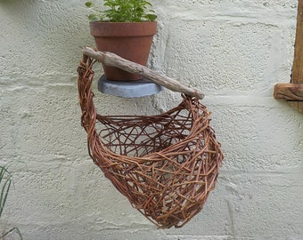 sea memories,  willow, driftwood, basket, woven, wicker, natural container,