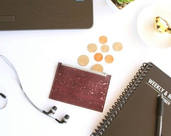 Vegan GIft For Her Birthday Gift Leather Coin Purse