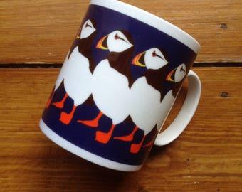 Puffin Party fine bone china mug