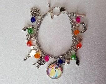 Disney fairy tale princess inspired charm bracelet