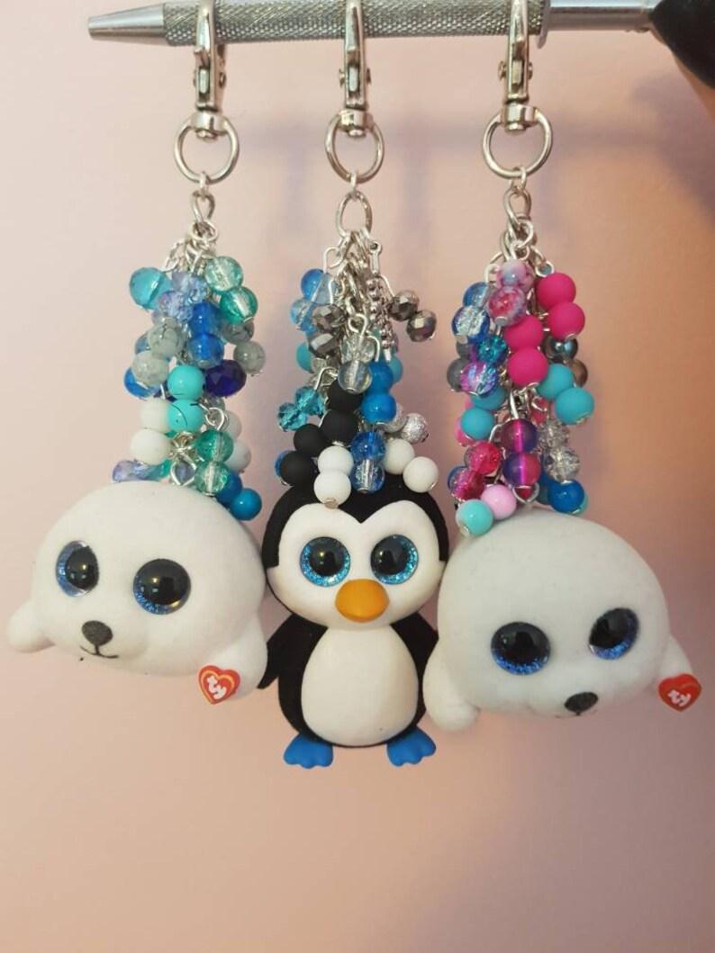 06f71052175 Ty beanie boos mini keyring keychain fob handbag charm seal