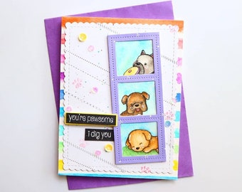 Dog Card For Birthday Pawsome Handmade Watercolor Owner From Pets Lover Cheerful Cards