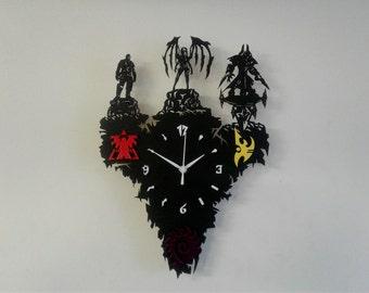 Starcraft heroes wooden wall clock