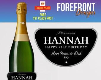 uni school Personalised Wine or Champagne//Prosecco label Prom 2019 college