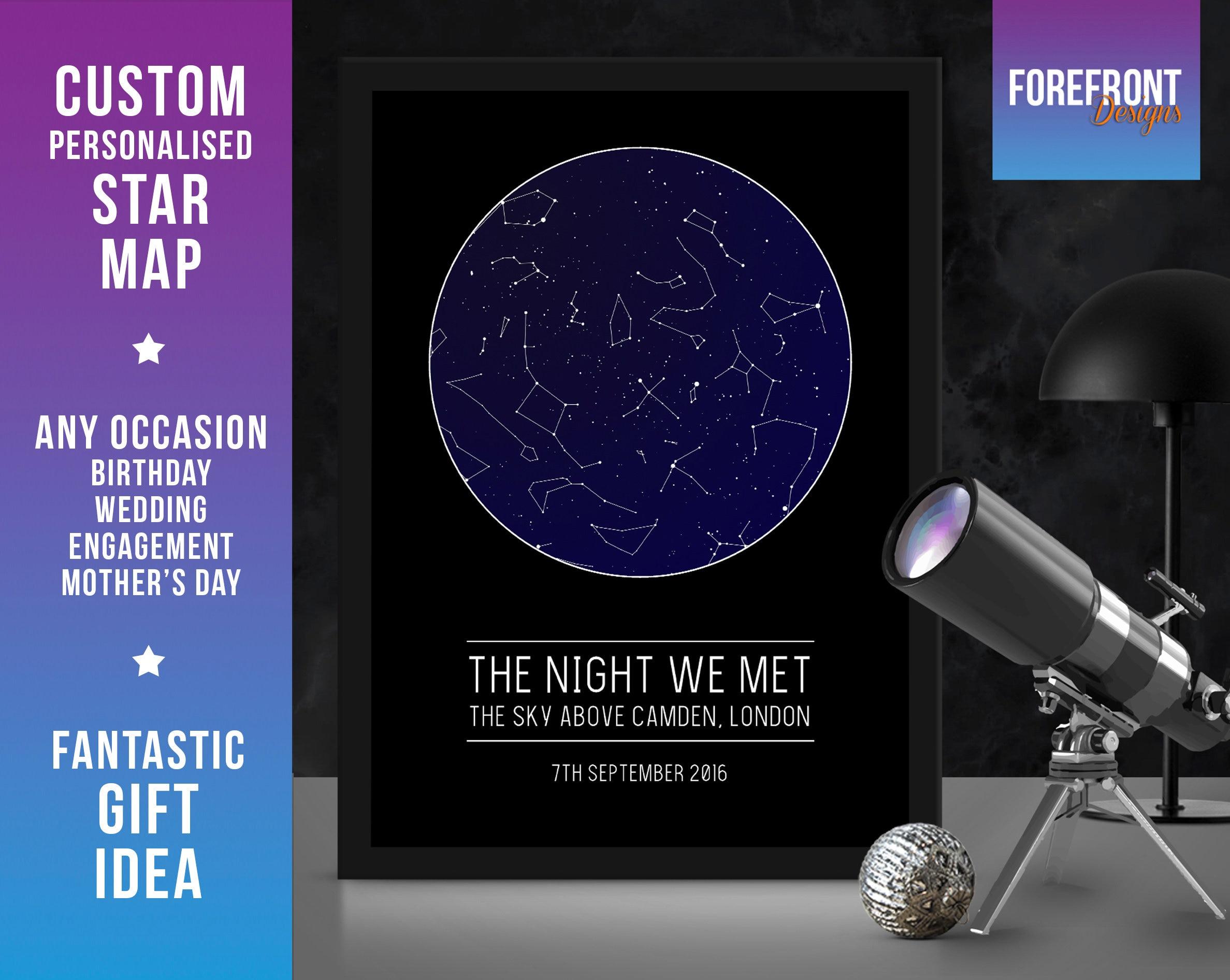 Die Nacht die wir trafen Sternbild Karte Nacht Himmel   Etsy