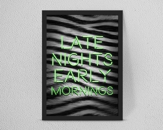 Personalised YOUR WORDSQUOTE Neon PrintCustom Quote Gift Art Home decorWallartOffice print Kitchen artwork Fantastic gift idea