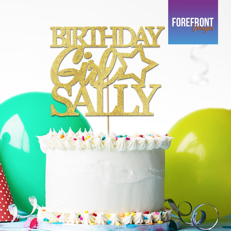 Personalisierte Geburtstag Mädchen Glitzer Kuchen Deckel 12 Etsy