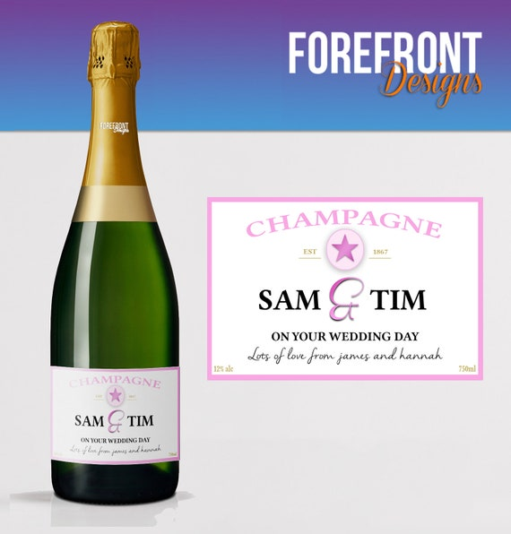 Personalised Prosecco//Champagne bottle label Perfect Birthday//Graduation Gift