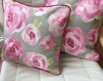 Rose cushion cover -  rose pillow - rose envelope cushion