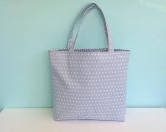 Star Tote Bag - Star eco bag - Eco tote - Tote bag - Market tote - Fabric shopper - Blue star tote