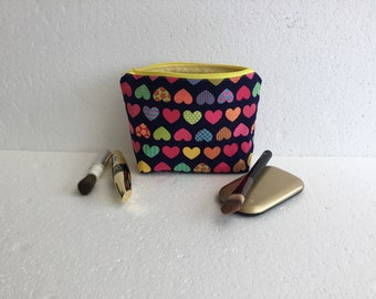 Makeup bag - cosmetic pouch - cosmetic bag - makeup pouch - travel accessory - travel pouch - toiletry pouch