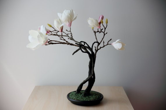 Magnolia Artificial Bonsai Etsy