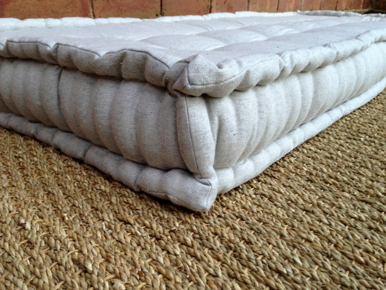 French Mattress Day Bed Cushion Quilted Edge Hand Tufted Window Seat Floor Pillow Vintage Inspired Please Note Full Price On Quotation