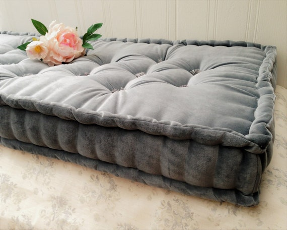 Peachy Handmade French Mattress Box Cushion Bench Seat Pad Banquette Squab Steel Grey Cotton Velvet Please Note Full Price On Quotation Ocoug Best Dining Table And Chair Ideas Images Ocougorg