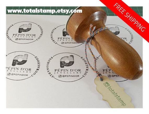 Custom Rubber Stamp Etsy Logo Wedding Business Card