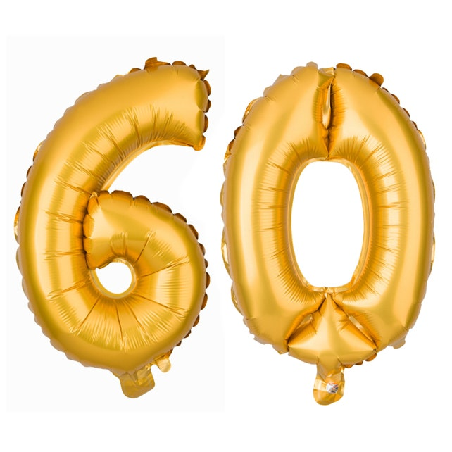 60 Number Balloons 60th Birthday Party Balloon Numbers Supplies Decorations Decor