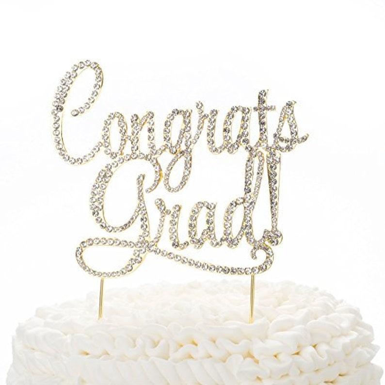 6bd62544fcef Congrats Grad Graduation Cake Topper New Graduate Party