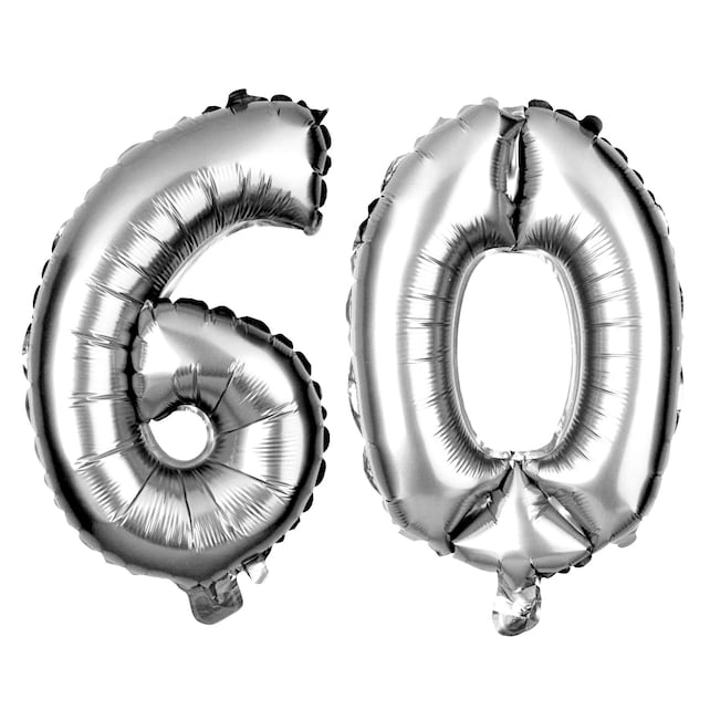 60 Number Balloons 60th Birthday Party Balloon Numbers Supplies Decorations