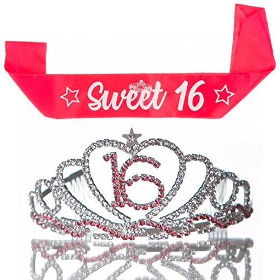 20355cdd3a79 Sweet 16 Tiara 16th Birthday Party Accessories Supplies