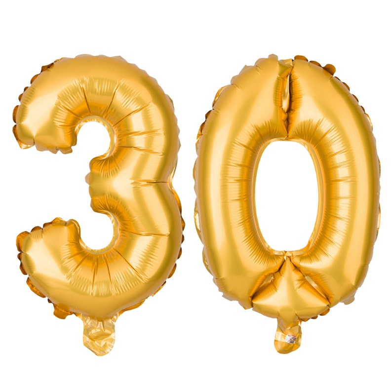 30 Number Balloons 30th Birthday Party Balloon