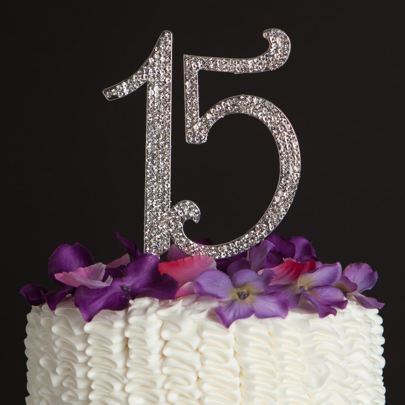 15 Cake Topper 15th Birthday Quinceanera Party Decoration Etsy