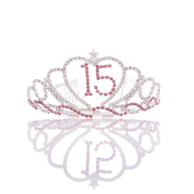 b27ce66154a2 15 Heart Tiara 15th Birthday Party Accessories Supplies