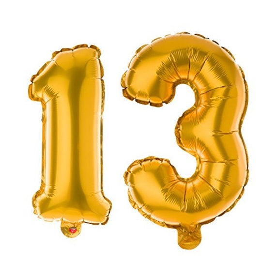 Non Floating 13 Number Balloons For 13th Birthday Party
